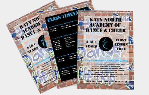 Katy North Dance And Cheer Flyer
