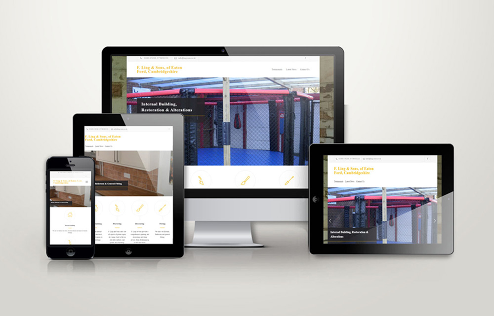 F Ling & Sons Builders website