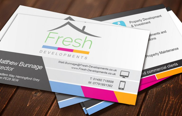 fresh developments business cards