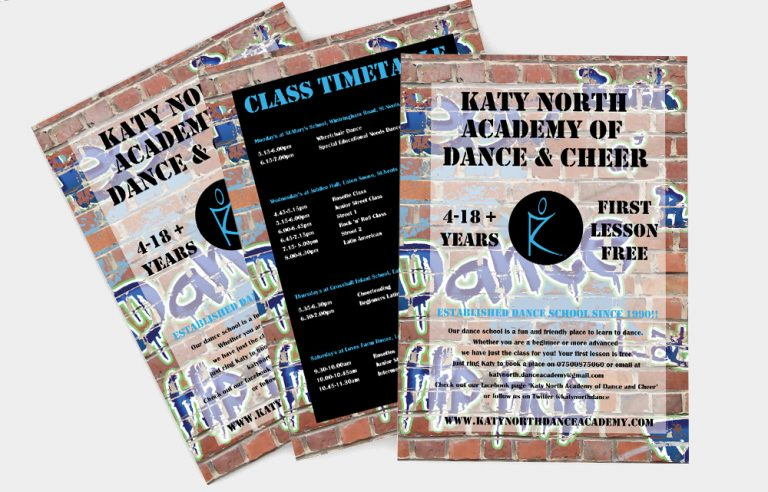 The Katy North Academy of Dance and Cheer flyer