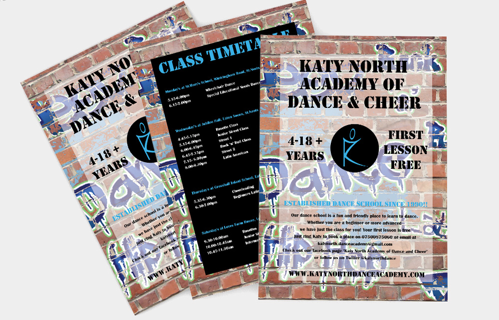 Katy North Academy Of Dance and Cheer St Neots Flyer